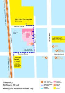 Parking & Pedestrian Map